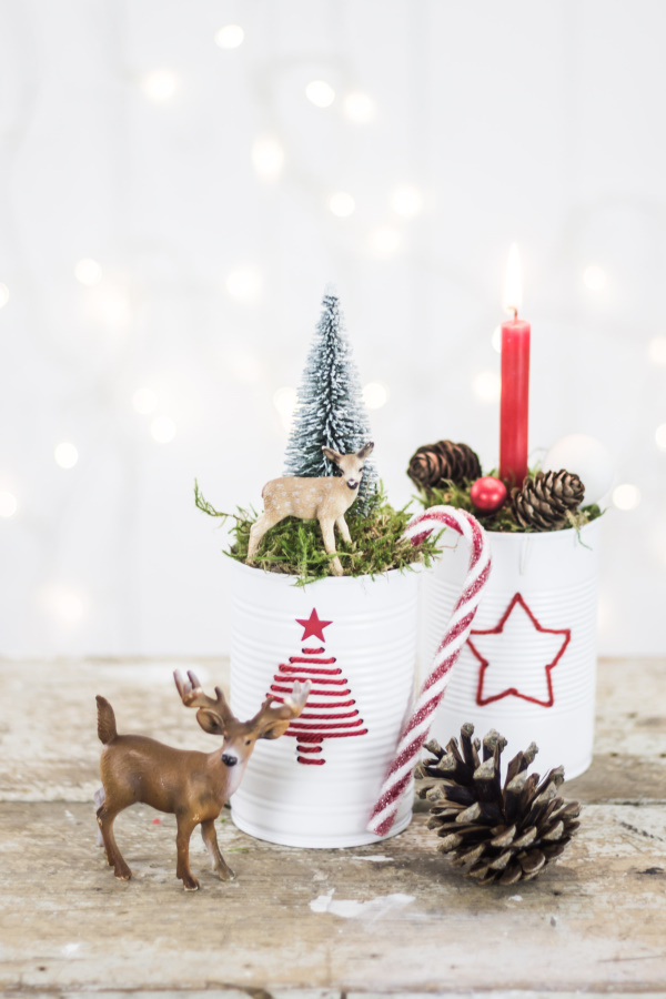 Upcycling DIY zu Weihnachten: Aus Dosen Deko basteln | by titatoni