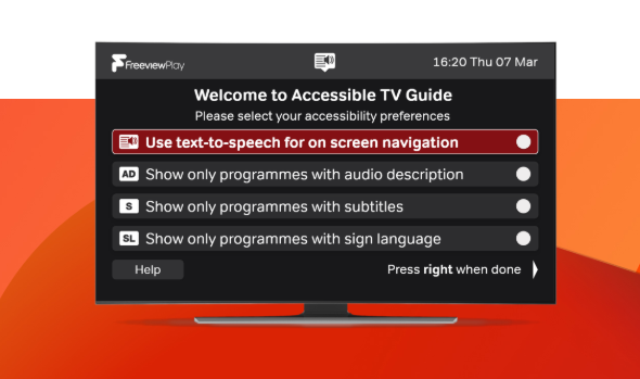 An image showing the Freeview Accessible Guide.