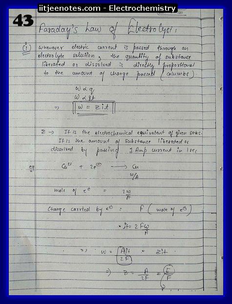 Electrochemistry Notes IITJEE13