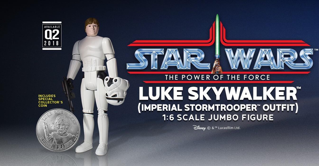 "competitive price 2950b 1116c Star Wars Luke Skywalker in Stormtrooper Gear 12"" Jumbo Vintage Kenner  Action Figure by Gentle Giant"