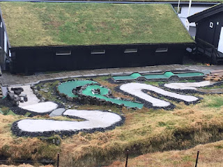 Faroe Islands Minigolf course in a prison. Photo by Kevin Moseley 2018