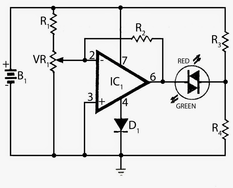 Electronics Projects: Battery Voltage monitor
