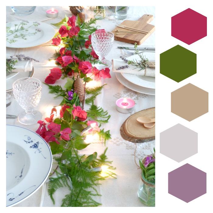 cómo colocar la mesa con estilo- colores