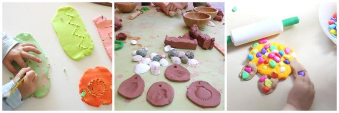 actividades, manualidades niños motricidad fina otoño, jugar con barro, plastilina, pasta de sal