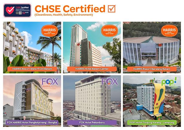 Keren, Dengan Nilai Memuaskan TAUZIA Hotels Regional Sumatera Mendapatkan Sertifikat Program CHSE dari Kemenparekraf