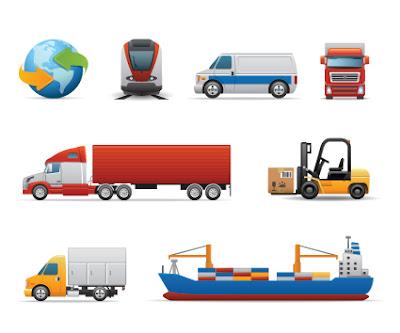 vectores de camiones