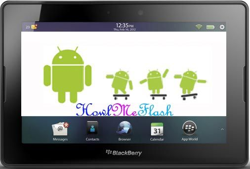 Run Android Applications on Blackberry Playbook