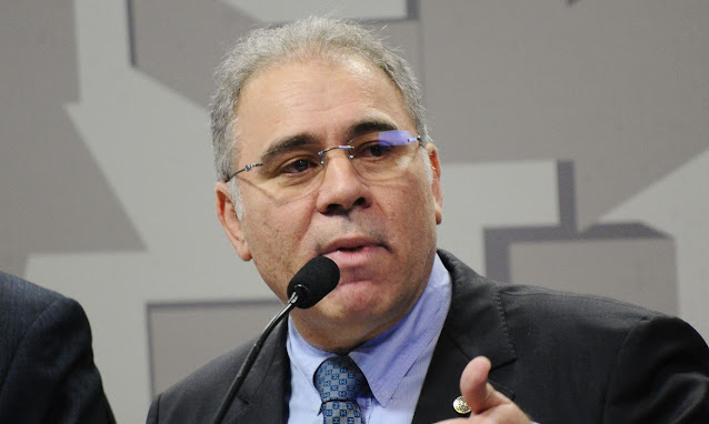 O Presidente jair Bolsonaro anuncia Marcelo Queiroga como novo ministro da Saúde