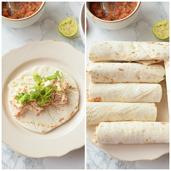 Step by Step Pictures of How to make Chicken Taquitos