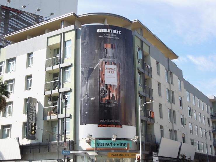 Absolut Elyx Vodka 2014 billboard