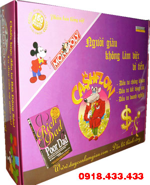 Board Game cashflow 101 - game giấy 101 Tiếng Việt