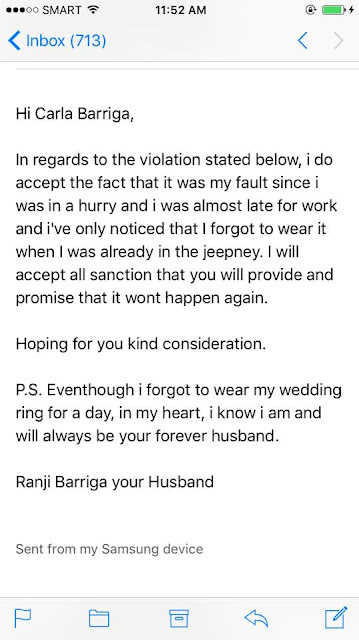 Wife Noticed That Her Husband Forgot to Wear His Wedding Ring. His Response to Her Is so Sweet!