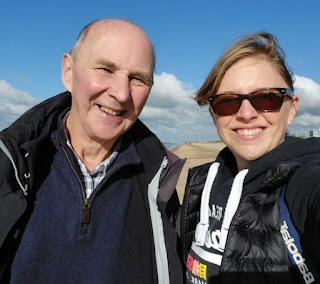 Wendy Hurrell clicking selfie with her father