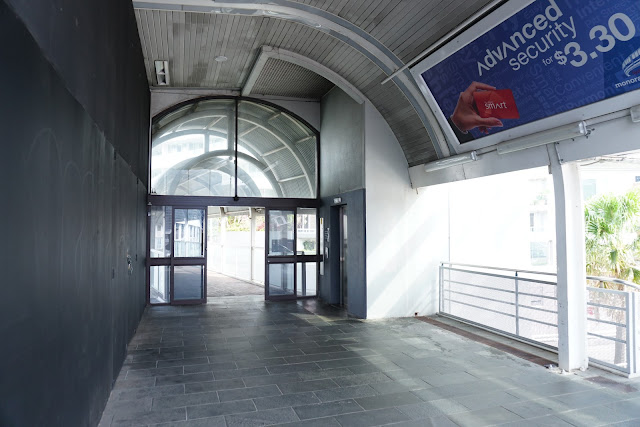 Abandoned Harborside Monorail Station interior