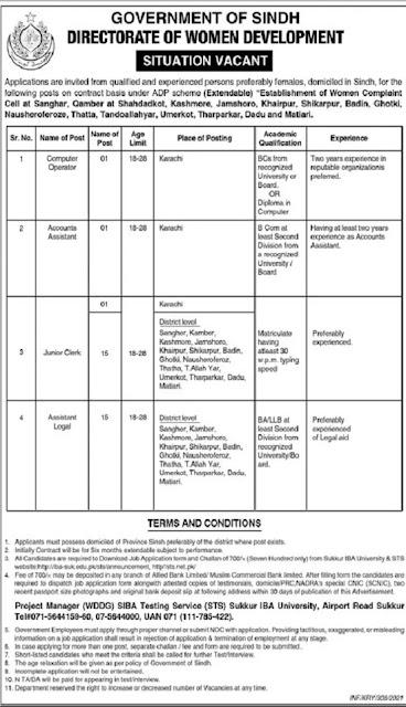 women-development-department-sindh-jobs-2021-application-form