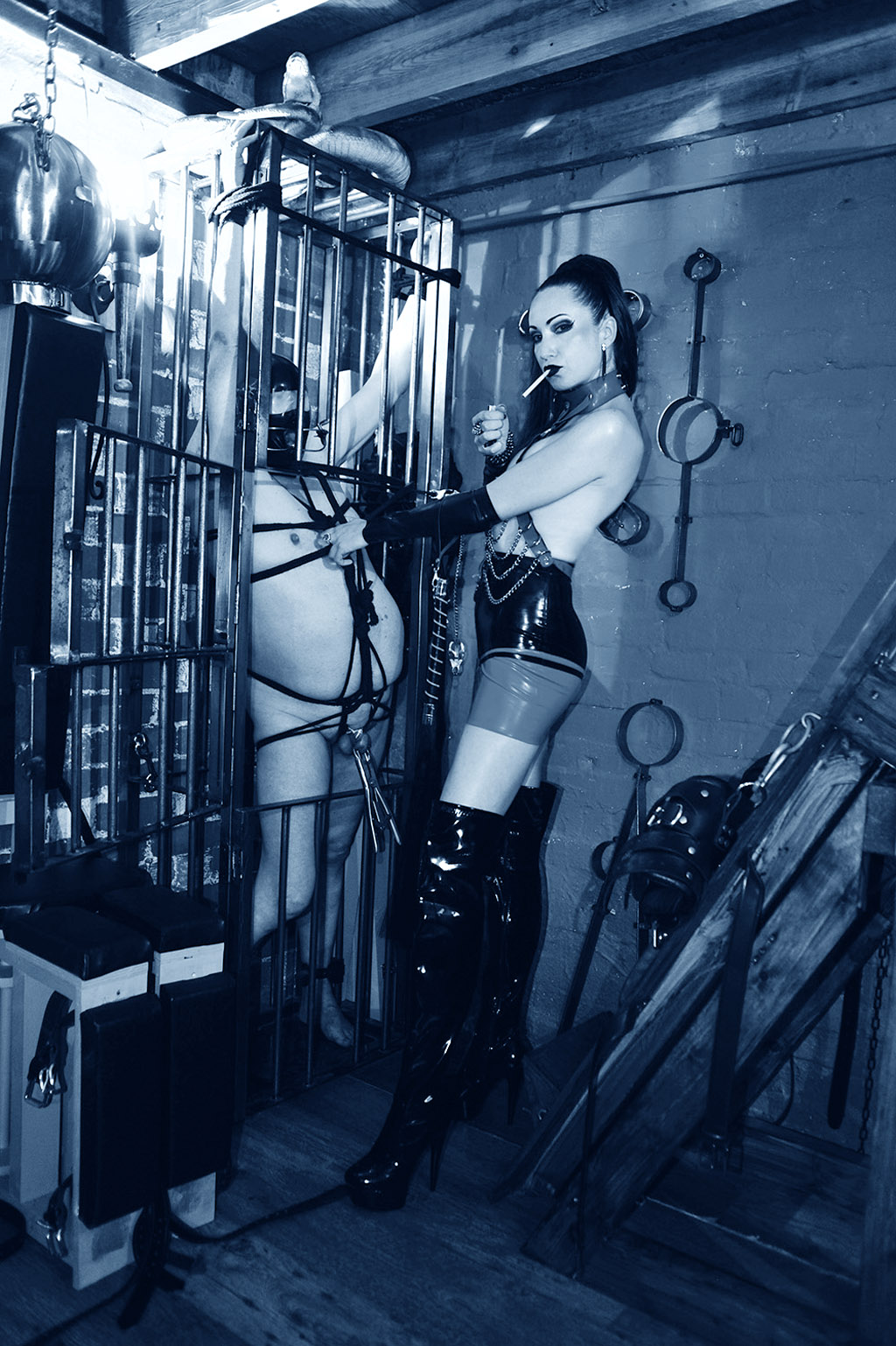 Bdsm fun with tits suction