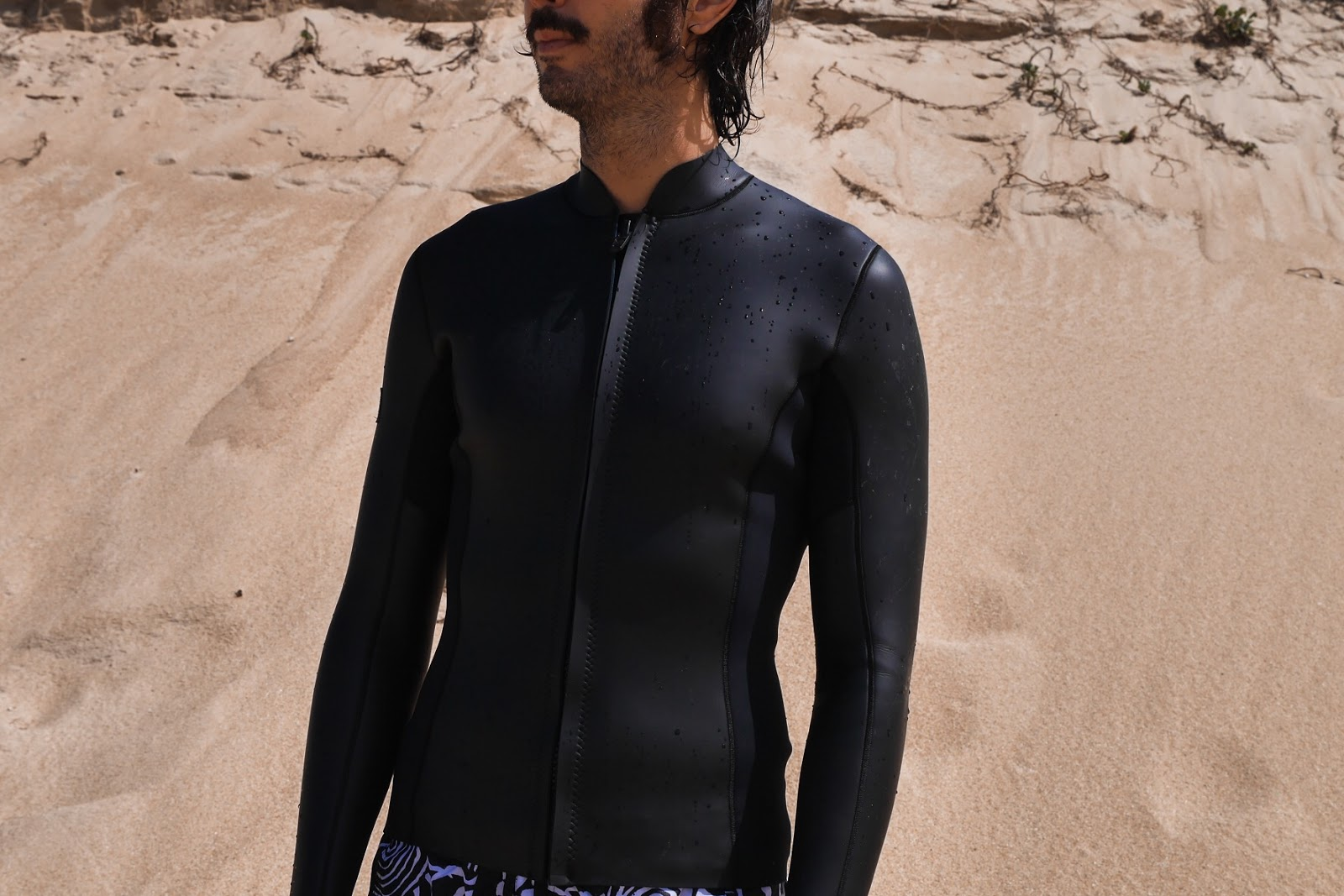 Neoprene Surfin Estate, Wetsuit Jacket, hand made in Capbreton