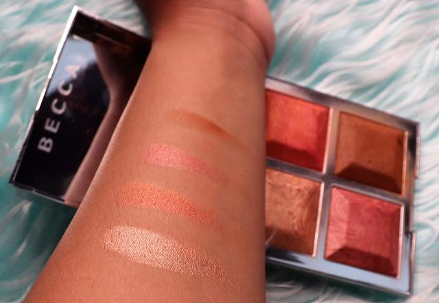 palette Becca Malika Khloe Kardashian #beccabff swatch