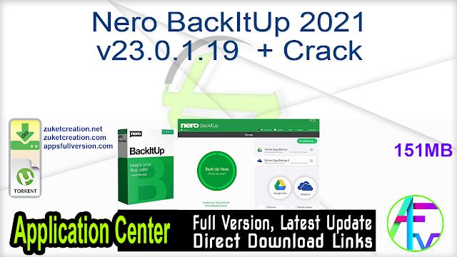 Nero BackItUp 2021 v23.0.1.19 + Crack