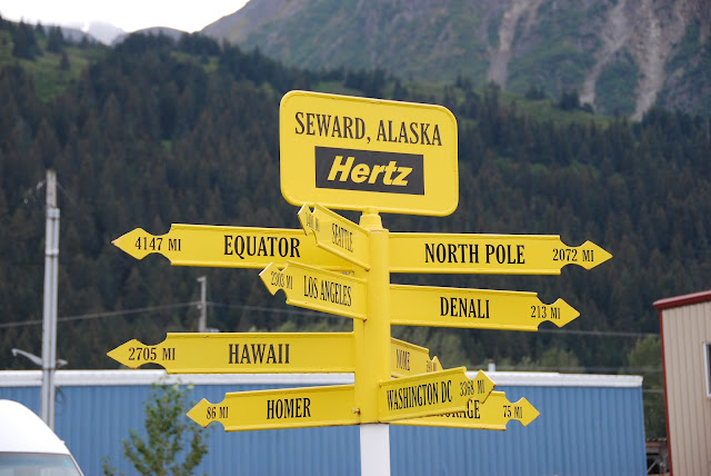 Distance sign board