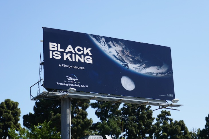 Black Is King movie billboard