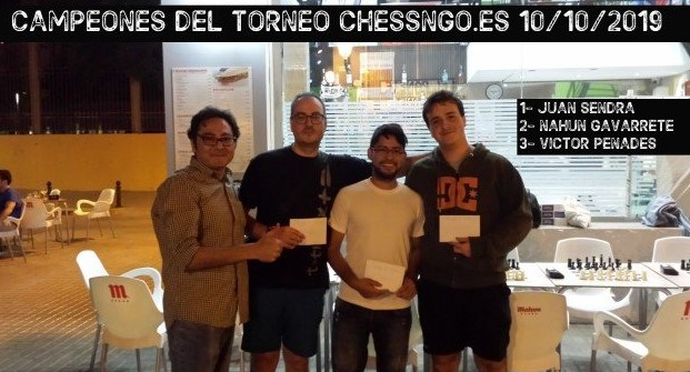 Juan Sendra gana el Chessngo 10/10/2019