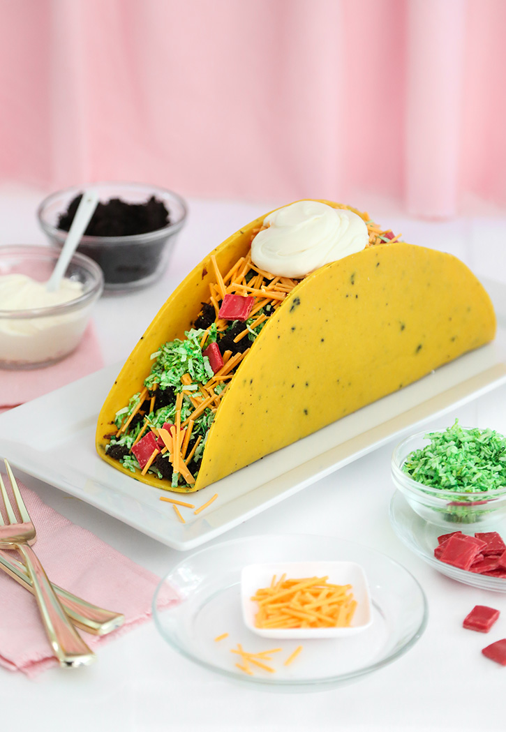 Marvelous One Big Taco Cake Sprinkle Bakes Funny Birthday Cards Online Inifodamsfinfo
