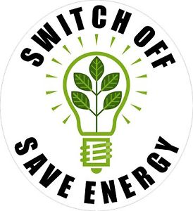 Turn off electrical appliances to live Eco-friendly