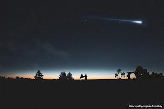La stella cometa guida i pastori