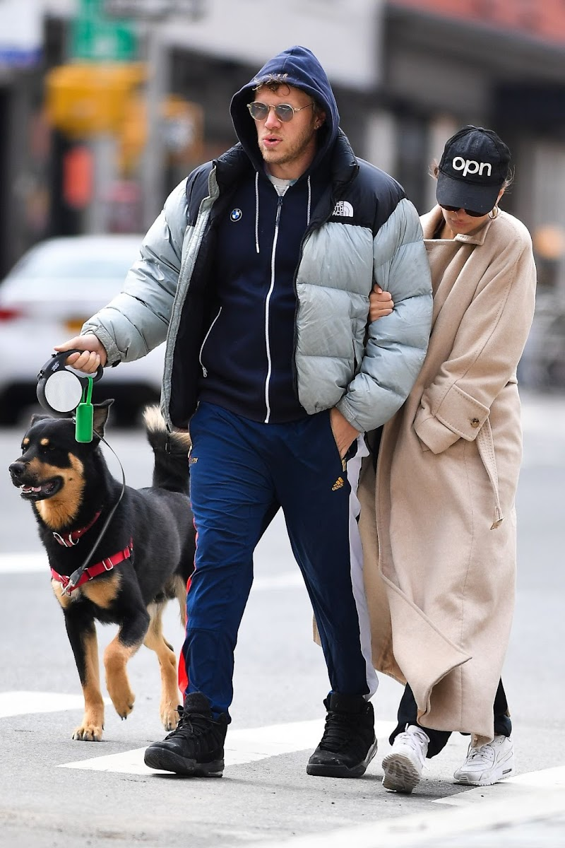 Emily Ratajkowski and Sebastian Bear McClard Out with Their Dog in New York 22 Mar -2020
