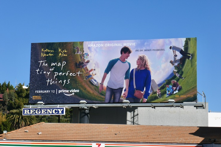Map of Tiny Perfect Things movie billboard