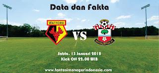 Data dan Fakta Fantasy Premier League Watford vs Southampton Fantasi Manager Indonesia