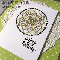 Try the Gold Vinyl Stickers from the Eastern Palace Suite from Stampin' Up! UK