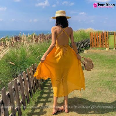 Váy maxi đi biển V412