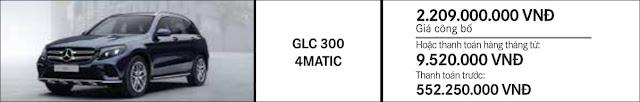 Giá xe Mercedes GLC 300 4MATIC 2017 tại Mercedes Trường Chinh