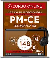 Curso online e Apostila PMCE - Polícia Militar do Ceará - Soldado PM/CE 2016.