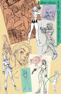Danger Girl Sketchbook - les recherches de personnages