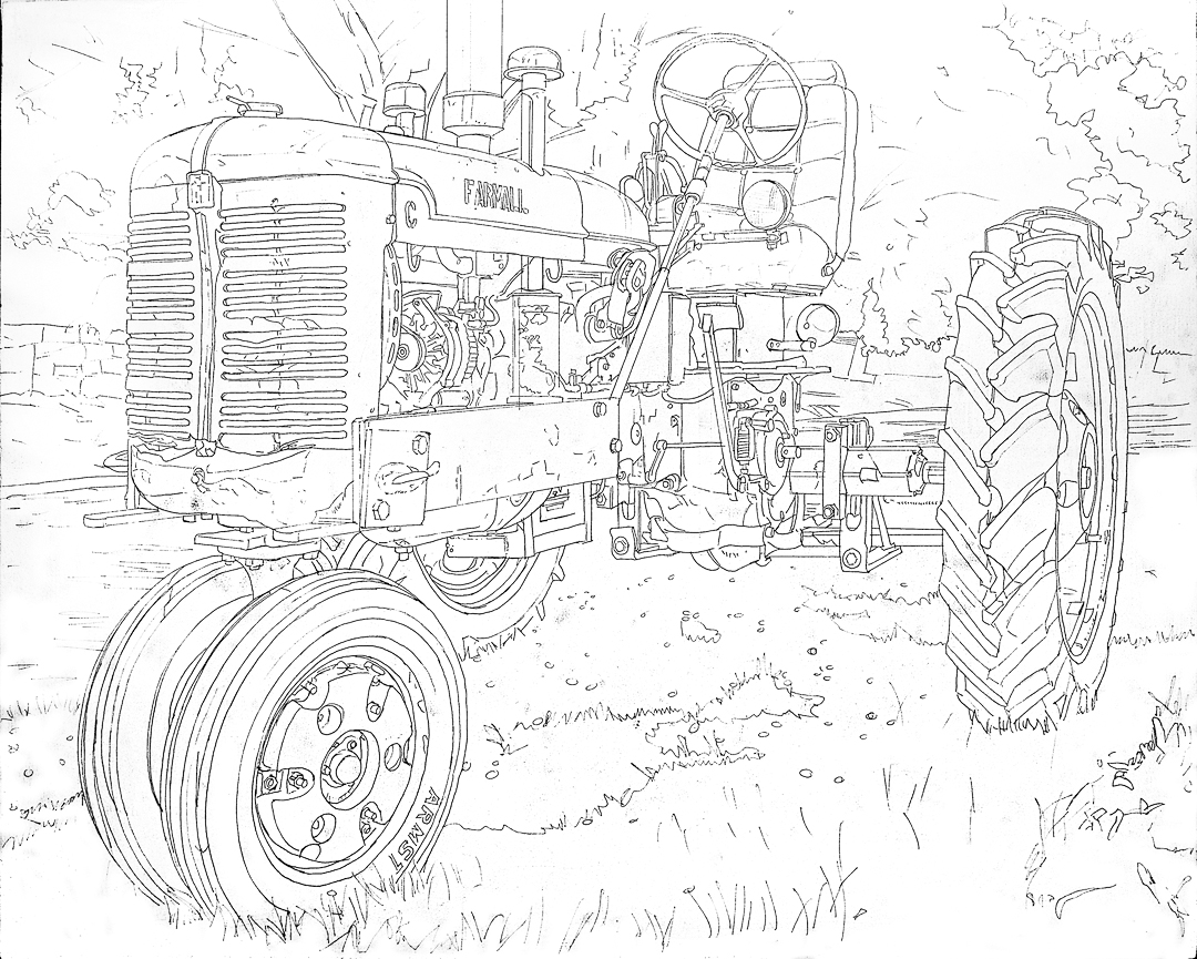 tractor coloring pages farmall b - photo#2
