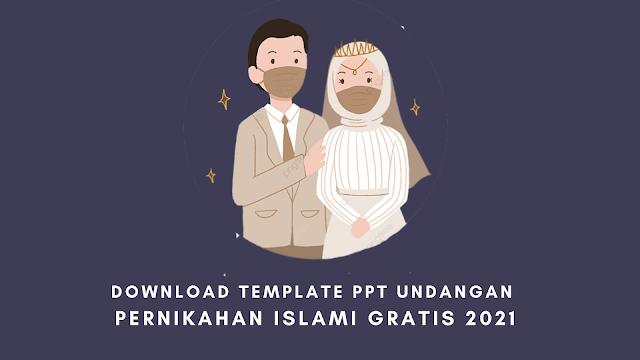 Download Template Ppt Undangan Pernikahan Islami Gratis 2021