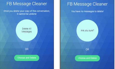 حذف جميع رسائل الفيس بوك ماسنجر دفعة واحدة
