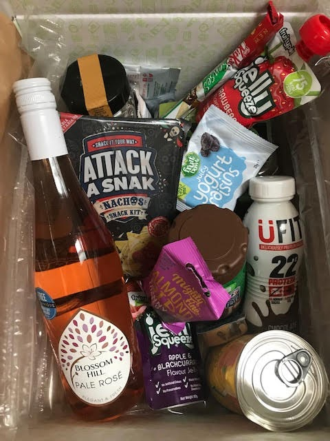 August degustabox 2019 uk. back to school theme.