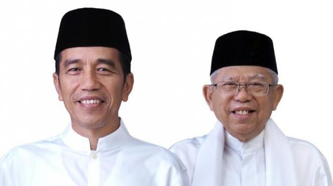 Foto Jokowi-Ma'ruf Amin Yang Akan Dipakai Di Surat Suara