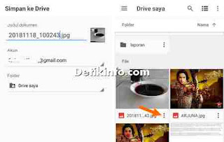 upload file gambar ke drive google via android