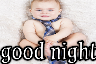Good night image with baby, good night baby image