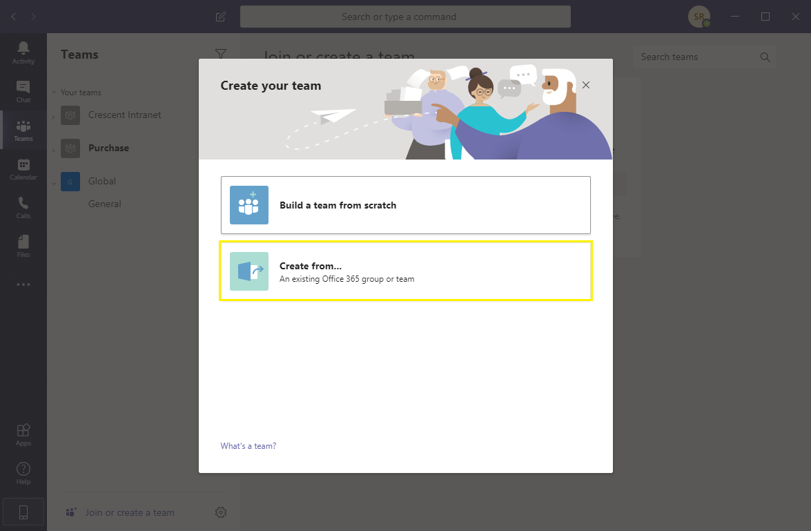 link sharepoint online to teams