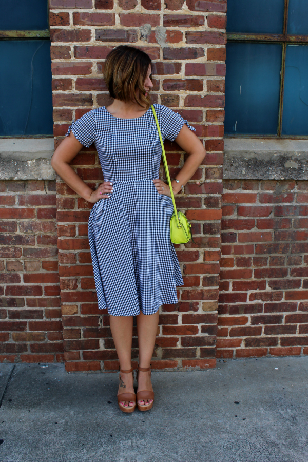 shabby apple, gingham dress, modest style