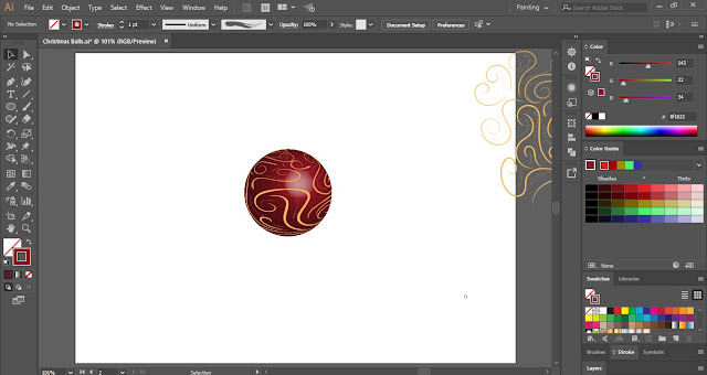 Decorative Christmas Balls in Adobe Illustrator