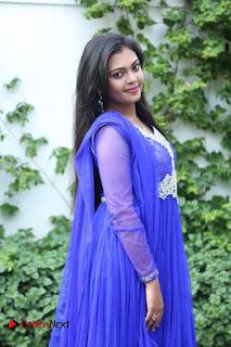 Actress Mridula Vijay Pictures in Salwar Kameez at Jennifer Karuppaiya Movie Team Interview  0004