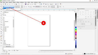 corel draw, tutorial corel draw, mengubah ukuran kertas corel draw