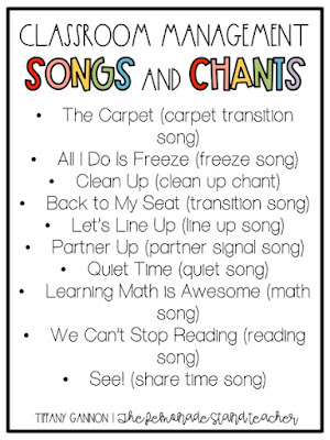classroom management songs and chants